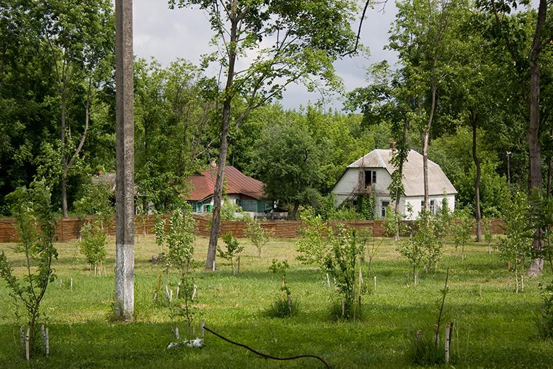 Homes in the Chernobyl Nuclear Power Plant area